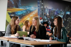 Students studying in JMS Sixth Form Centre